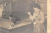 spof018056 - Woman and man Playing Billiards Pool Billiards  Carte Postale