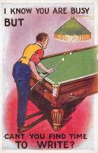 spof018095 - Can you find time to write Pool Billiards  Carte Postale