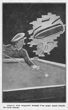 spof018098 - Issued by the YMCA hut Fund, Shelter for Soldiers Pool Billiards  Carte Postale