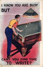 spof018103 - Can you find time to write Pool Billiards  Carte Postale
