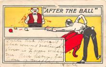 spof018216 - After the Ball Pool Billiards Postcard Carte Postale