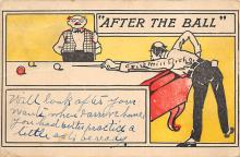 spof018223 - After the Ball Pool Billiards Postcard Carte Postale