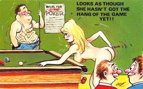 spof018227 - Artist Prof Pool Billiards Postcard Carte Postale