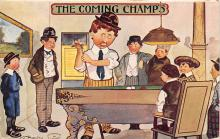 spof018233 - The Coming Champs Pool Billiards Postcard Carte Postale