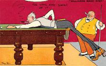 spof018235 - Billiards Made Easy, The Long and Short of It Pool Billiards Postcard Carte Postale