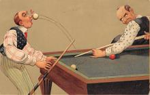 spof018236 - Ball to the face Pool Billiards Postcard Carte Postale