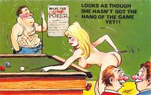 spof018242 - she hasn't got the hang of the game yet Pool Billiards Postcard Carte Postale