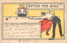 spof018251 - After the Ball Pool Billiards Postcard Carte Postale