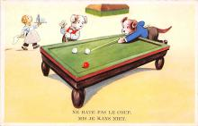 spof018261 - Ne rates pas le coup mis je kans niet Pool Billiards Postcard Carte Postale