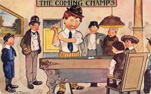 spof018270 - The Coming Champs Pool Billiards Postcard Carte Postale