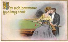 spof018275 - I'm not lonesome by a long shot Pool Billiards Postcard Carte Postale