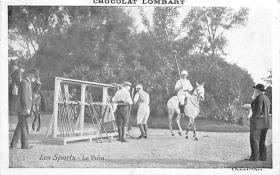 spof019014 - Chocolat Lombart, Paris, Les spofrts Le Polo Polo Postcard