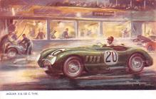 spof020006 - Jaguar X.K. 120 Auto Race Car, Racing Postcard