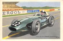 spof020007 - Vanwall Auto Race Car, Racing Postcard