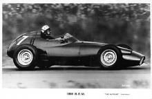 spof020019 - 1959 B.R.M. Auto Race Car, Racing Postcard