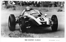 spof020022 - 1959 Cooper Climax Auto Race Car, Racing Postcard