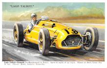spof020030 - Largo Talbot Auto Race Car, Racing Postcard