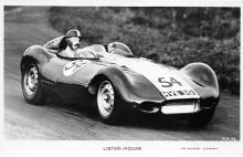 spof020034 - Lister Jaguar Auto Race Car, Racing Postcard