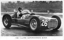 spof020043 - 1952 Supercharged B.R.M. Auto Race Car, Racing Postcard