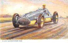 spof020052 - Unsupercharged Osca Auto Race Car, Racing Postcard
