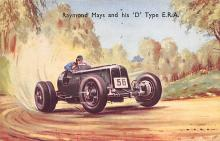 spof020058 - D Type E.R.A. Auto Race Car, Racing Postcard