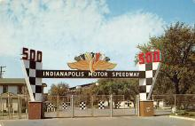 spof020104 - Indianapolis, Ind, Speedway Auto Race Car, Racing Postcard