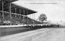 spof020137 - Wisconsin State Fair Milwaukee, USA Auto Race Car, Racing Postcard
