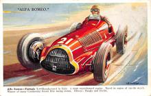 spof020162 - Alfa Romeo Auto Race Car, Racing Postcard