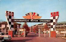 spof020187 - Indianapolis Mptor Speedway, Indianna, USA Auto Race Car, Racing Postcard