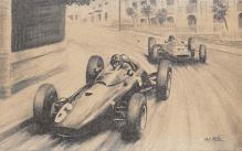 spof020203 - 1963 monaco Grand Prix Auto Race Car, Racing Postcard