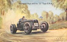 spof020204 - Raymond Mays & His 'D' type E.R.A. Auto Race Car, Racing Postcard