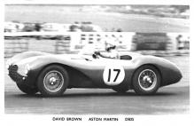 spof020216 - David Brown, Aston Martin, DB3s Auto Race Car, Racing Postcard