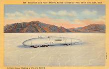spof020661 - Bonneville Salt Flats, Giant Racer Auto Racing, Race Car