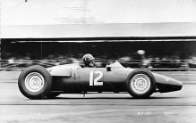 spof020677 - Graham Hill Driving the BRM in British Empire Trophy Race at Silverstone 1961 Auto Racing, Race Car