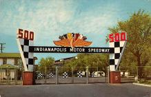 spof020752 - Main Gate, Indianapolis Motor Speedway Auto Racing, Race Car
