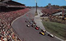 spof020768 - Indianapolis Motor Speedway Auto Race Car, Racing Postcard