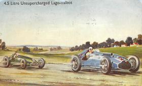 spof020783 - 4.5 Litre Unsupercharged Lago Talbot Auto Race Car, Racing Postcard