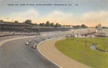 spof020802 - Pacing Lap, Start of Race, Motor Speedway Automobile Racing, Race Car Postcard