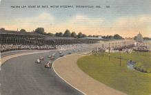 spof020809 - Pacing Lap, Start of Race, Motor Speedway Automobile Racing, Race Car Postcard