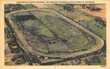 spof020818 - Indianapolis Motor Speedway Automobile Racing, Race Car Postcard