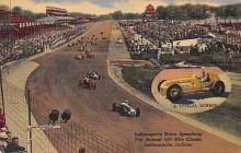 spof020823 - Annual 500 Mile Classic, Indianapolis Motor Speedway Automobile Racing, Race Car Postcard