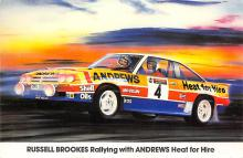spof020831 - Russell Brookes Rallying with Andrews Heat for Hire Automobile Racing, Race Car Postcard