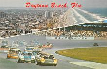 spof020832 - Daytona International Speeway Automobile Racing, Race Car Postcard