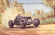 spof020838 - Raymond Mays and his D Type ERA Automobile Racing, Race Car Postcard