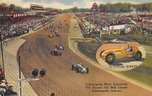 spof020855 - Annual 500 Mile Classic, Indianapolis Motor Speedway Automobile Racing, Race Car Postcard