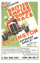 spof020866 - 5th International British Empire Trophy Race, April 4, 1936 Automobile Racing, Race Car Postcard