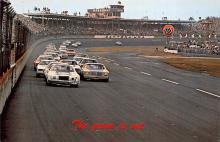 spof020896 - Green Flag, Daytona International Speeway Automobile Racing, Race Car Postcard
