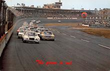 spof020898 - Green Flag, Daytona International Speeway Automobile Racing, Race Car Postcard