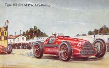 spof020901 - Type 158 Grand Prix Alfa Romeo Automobile Racing, Race Car Postcard