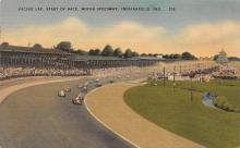 spof020905 - Pacing Lap, Start of Race, Motor Speedway Automobile Racing, Race Car Postcard